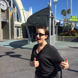 Liz survived Space Mountain!