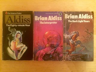 My haul of Brian Aldiss—or my Hauldiss, if you will—from today's shopping trip to the Open Market.