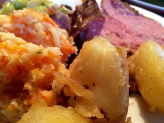 Roast potatoes.