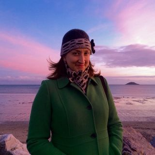 Jessica and Ballycotton lighthouse.