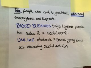 First pass at a proposition statement for Blood Buddies.