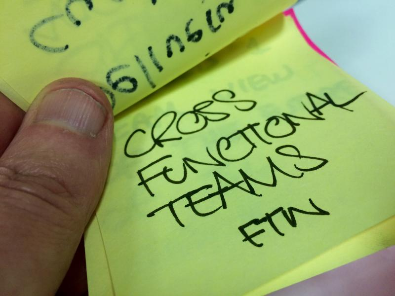 Cross-functional teams FTW.
