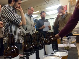 Beer tasting is serious business.