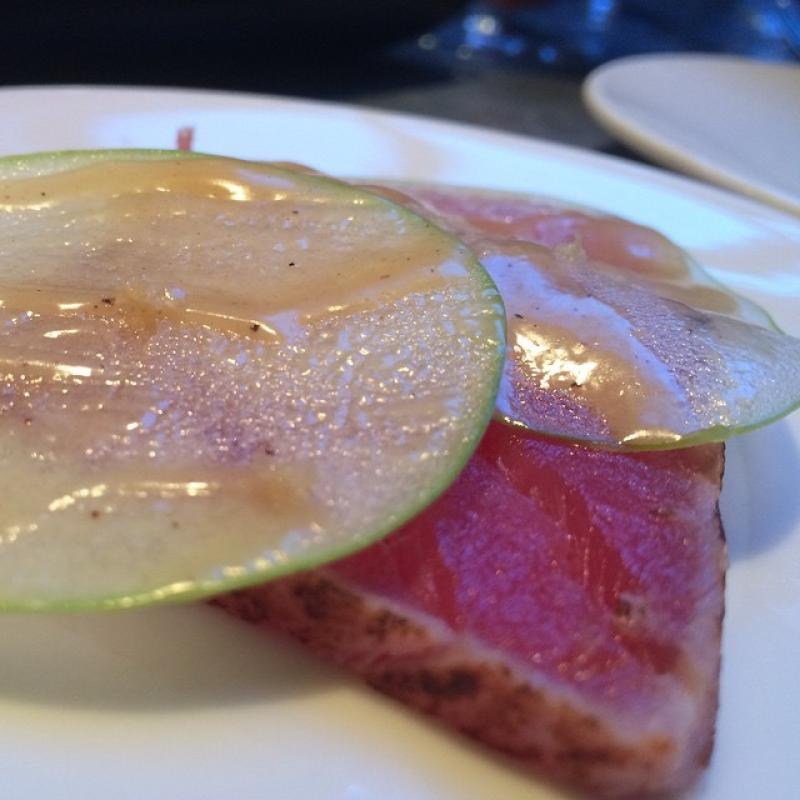Tuna and apple.