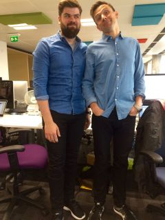 Rob and James modelling today's uniform.