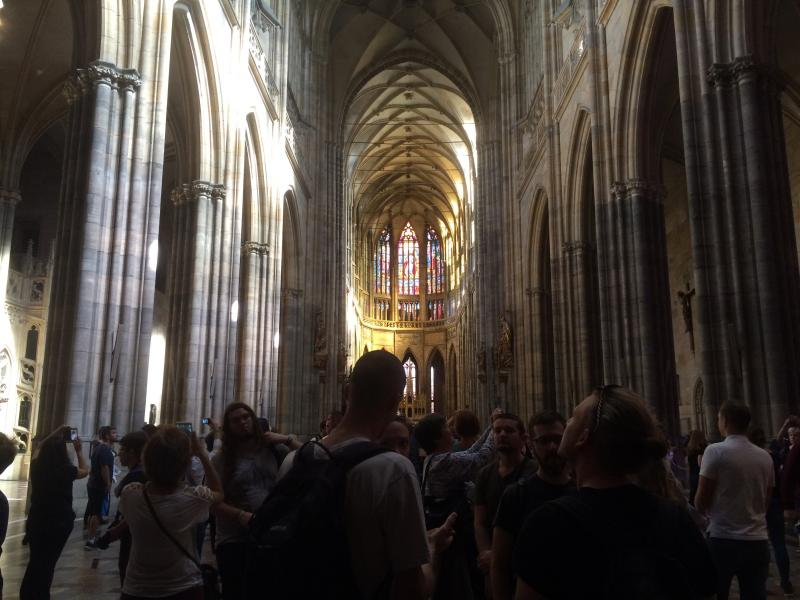 Inside St. Vitus' Cathedral.