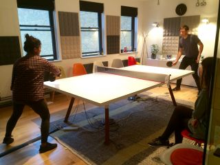 Friday afternoon table tennis at beer o'clock in @Clearleft Towers.