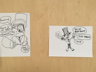 What are the odds that @ChloeFinlayson and I would have the same inner critic? Complete with top hat and monocle.