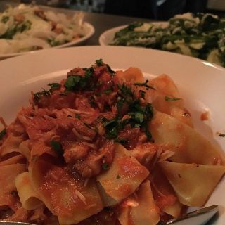 Rabbit pappardelle.